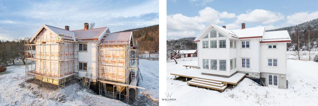 Fjellskarveien før og etter