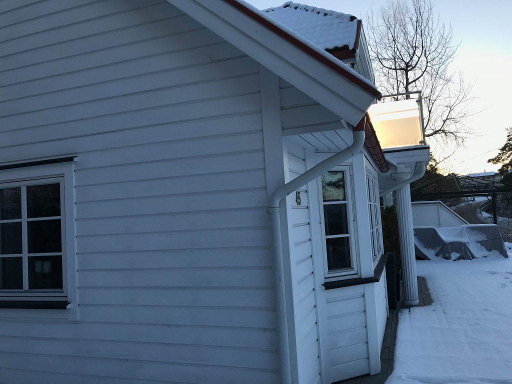 Hvit hus på Konnerud før ombygging