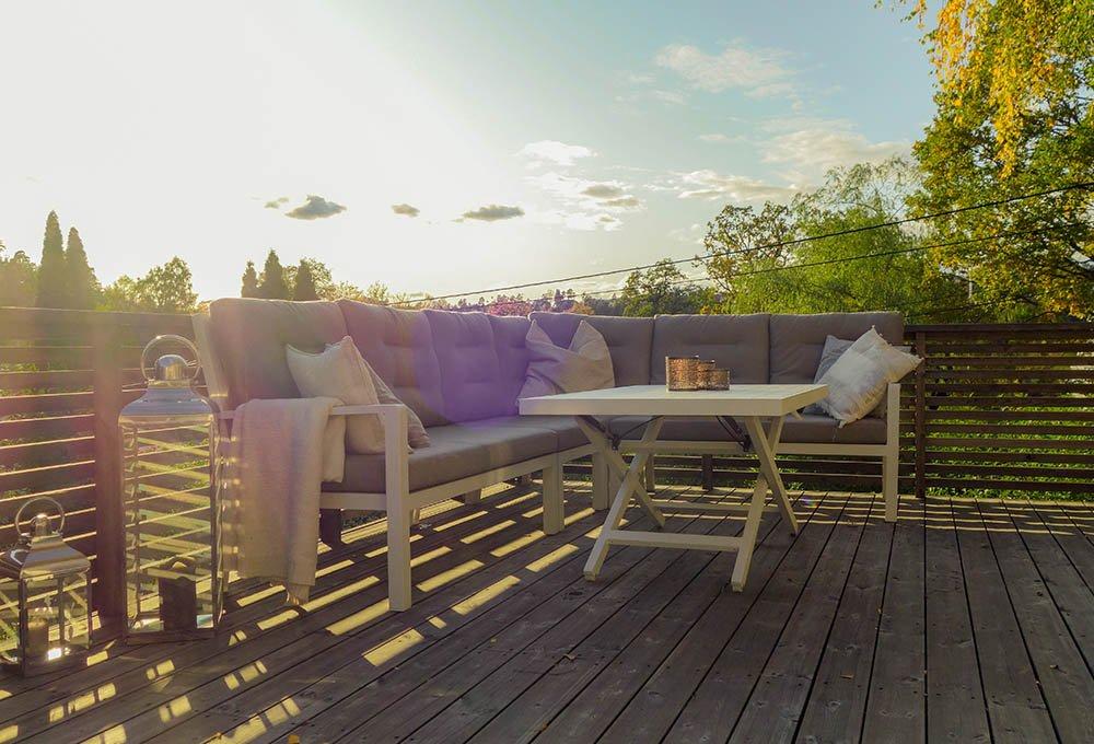 Bjerkaasen: Ny veranda utvider stuen og gjør det lettere å ha sosiale sammenkomster