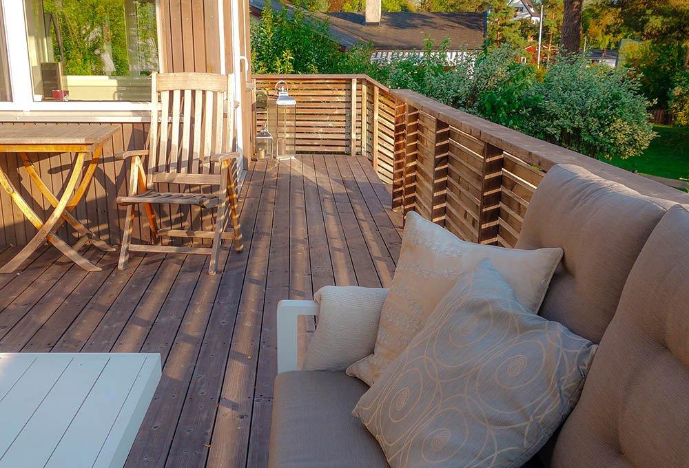 Bjerkaasen: Ny veranda