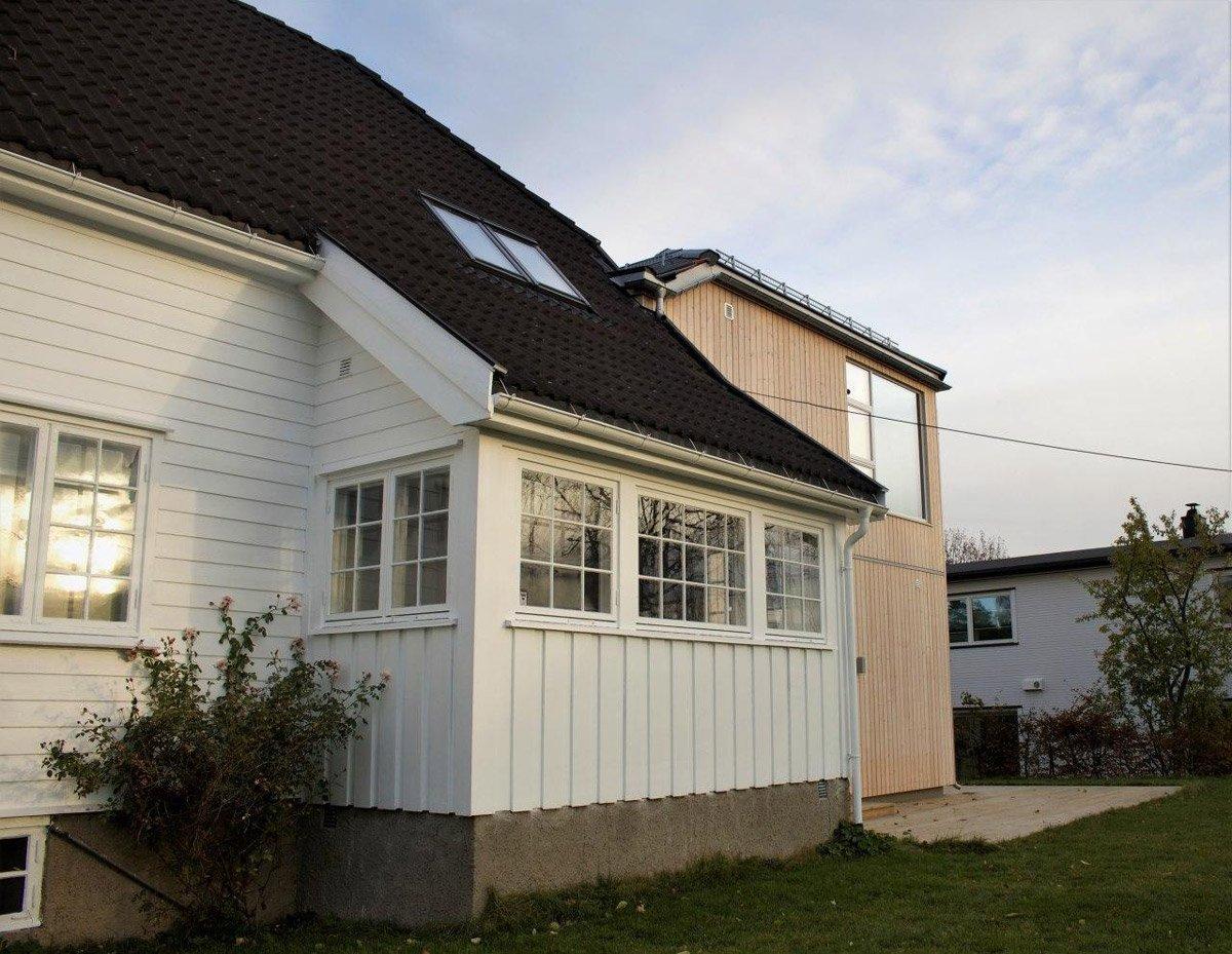 Traneveien 4A: Utbygging av vernet hus