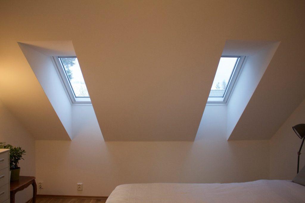 Nytt soverom i 3. etasje med velux vinduer
