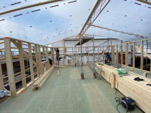 Konstruksjon ved tilbygg og påbygg er en vesentlig del av prosjektet.